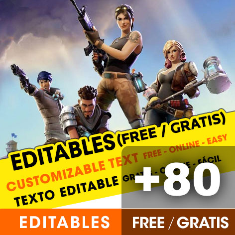Invitaciones editables de FORTNITE
