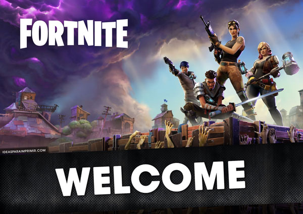 FORTNITE Welcome Sign Poster