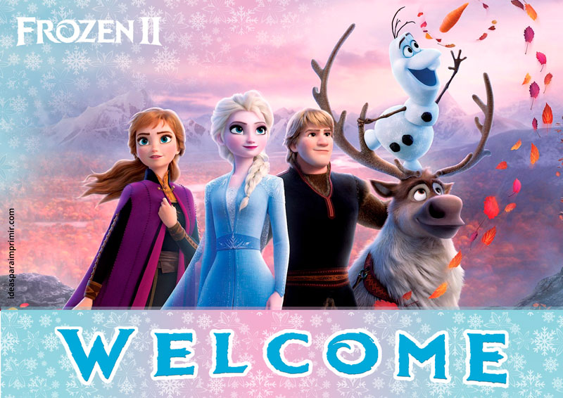 Frozen 2 Welcome Sign Poster
