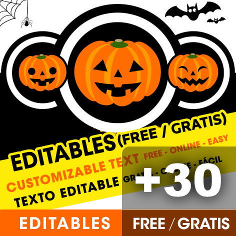 Invitaciones editables de Halloween