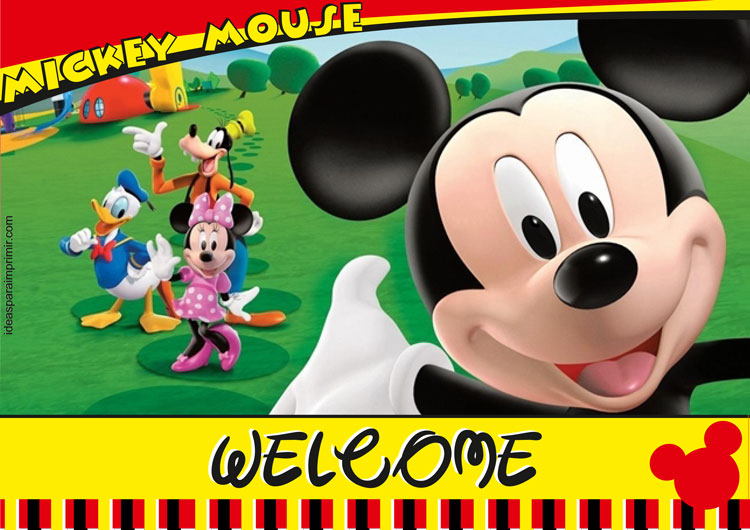 Mickey Mouse Welcome Sign Poster