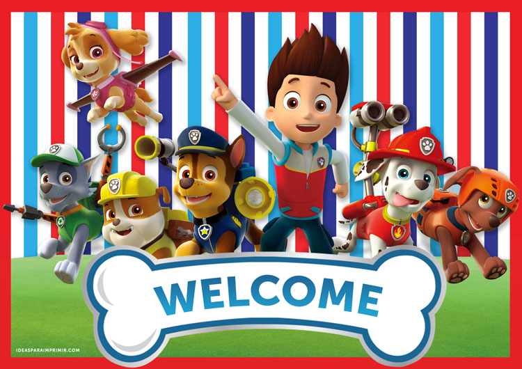 Paw Patrol Welcome Sign Poster