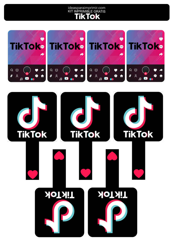 #LogoDelDía: Tik Tok, la red social del momento | paredro.com  |Tiktok Para Pintar
