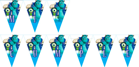 Monster University Banderines